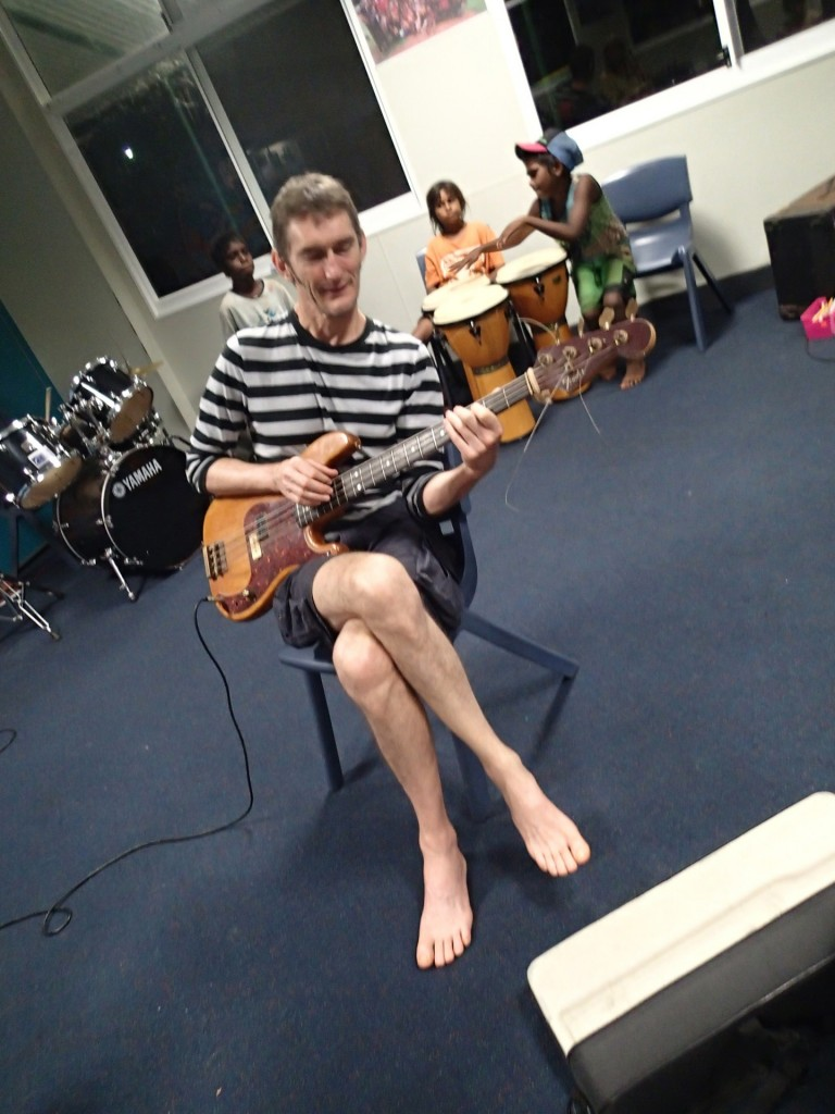 Tony on electric bass (G. Howell)