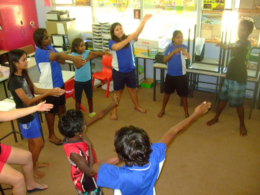 Body percussion learning 1 (G. Howell, One Arm Point)