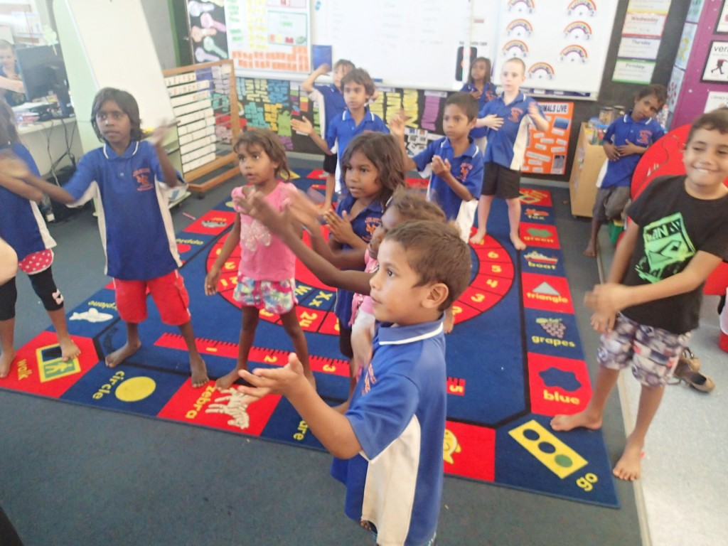 Body percussion learning 3 (One Arm Point, G. Howell)