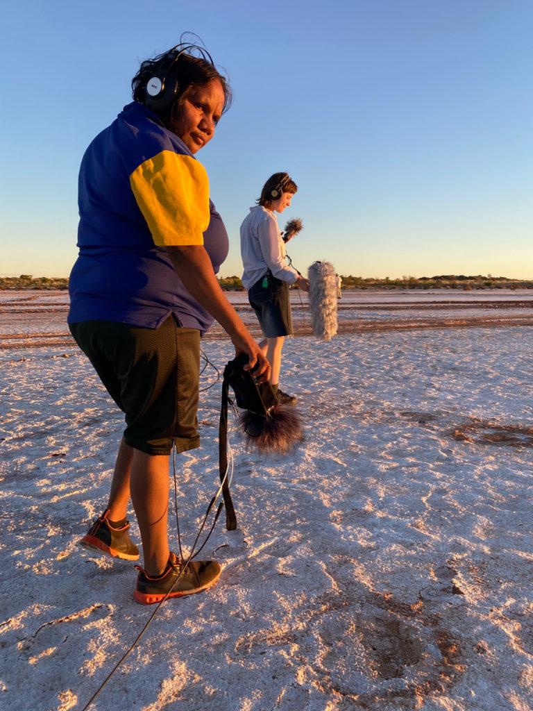 Judith Anya Samson and Annika Moses on Lake Dora. Photograph by Zoe Martyn.